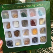 20PCS/Set Ore Fossil Set Ornament Natural Stone Craft Crystal Gemstone Polished Healing Natural Crystal Stone Decoration Art цена 2017