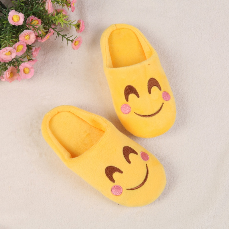 The Best 1pair Children Warm Kids Fashion Expression Package Cotton Emoil Face Section Cool Style Flip Flop Slippers Outdoor Shoes J2 Slippers Children's Shoes