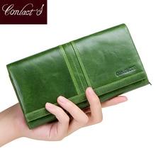 2018 новый бренд кошелек женский длинный клатч Визитницы с карманом для мобильного телефона Женские кошельки из натуральной кожи портмоне для дам