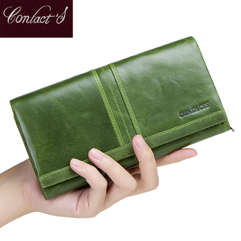 2020 New Brand Wallet Female Long Clutch Card Holders With Cellphone Pocket Women Wallets Genuine Leather Coin Purse For Ladies realer wallets for women genuine leather long purse female clutch with wristlet strap bifold credit card holders rfid blocking