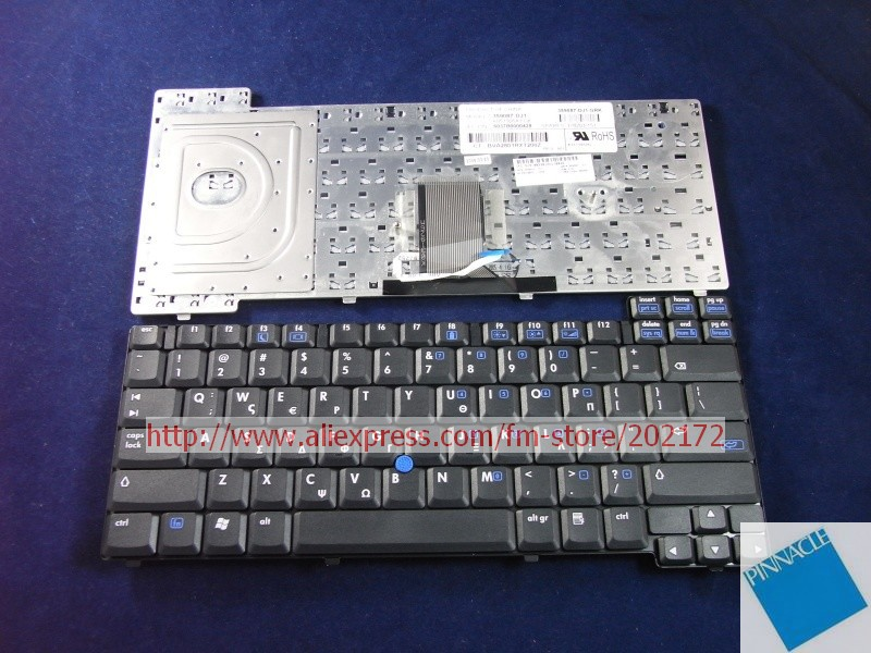 Brand New Black Laptop Notebook Keyboard 378203-151 359087-DJ1 6037B0000428 For HP Compaq nc8220 nc8230 nc8240series (Greece)