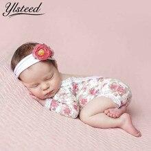 4448e60af Ylsteed recién nacido fotografía Props bebé Floral encaje Romper hueco  espalda abierta Romper recién nacido tiro