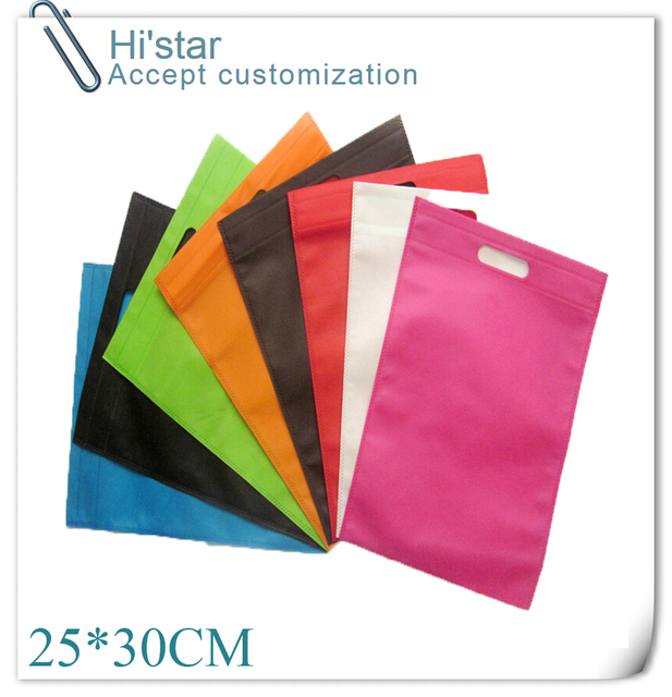 25 30cm 20 pieces lot Good Quality Colorful Plain Dyed Ultrasonic PP  Nonwoven Bags 9f0d6c5d5f1bd