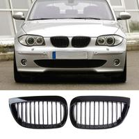 1 Pair Gloss Black Front Kidney Grille Grills For BMW E81 E87 2004 2007 Car Styling