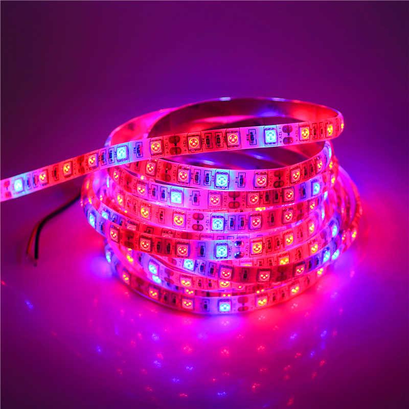 0.5-5 M wodoodporna 5050 rosną LED elastyczny pasek taśma oświetleniowa 3/4/5 czerwony 1 niebieski akwarium-szklarnia roślina hydroponiczna rosną lampy