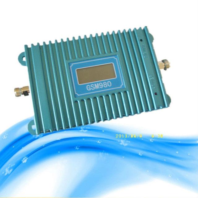 Pantalla LCD GSM 900 Mhz del teléfono móvil GSM980 amplificador 70db señal booster, repetidor de la señal gsm, amplificador del teléfono celular 2015 venta al por mayor