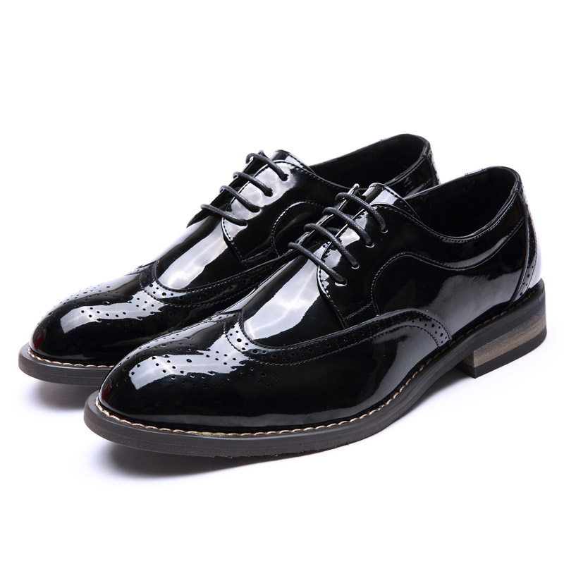 Fashion italy Genuine Leather Men Oxford Dress Shoes Lace Up Casual Business Men Shoes