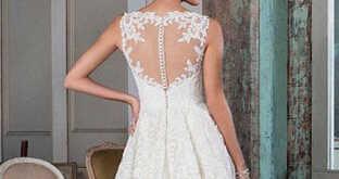 059e8631033a3 Spring A Line Vestido De Noiva Vintage Lace Beach Wedding Dress Short in  Front Long Back Bridal Dresses Custom Made