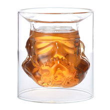 150ml 3D Cool Design Star Wars Stormtrooper Beer Wine Whiskey Water Glass Cup Bottle Crystal Shot Double Layer Coffee Tea Mug
