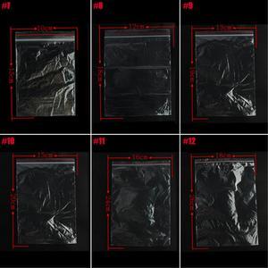 Image 5 - 100 adet plastik poşetler takı Zip sıkıştırılmış kilit yeniden kapatılabilir poli şeffaf ambalaj poşetleri farklı boyut