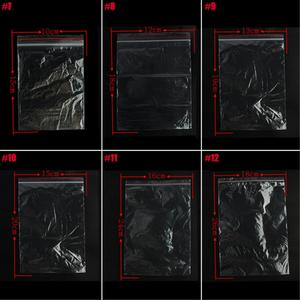 Image 5 - 100PCS Plastic Bags Jewelry Zip Zipped Lock Reclosable Poly Clear Packaging Bags Different Size