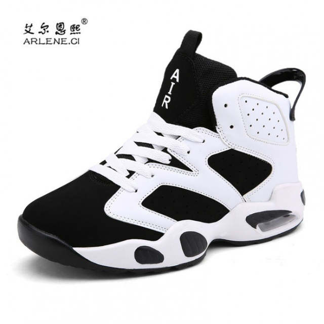 Online Shop 2018 Hot Brand Men Women Basketball Shoes High Top Leather Basketball  Sneakers Comfortable Basketball Boots Black Mens Trainers  8299ff870e