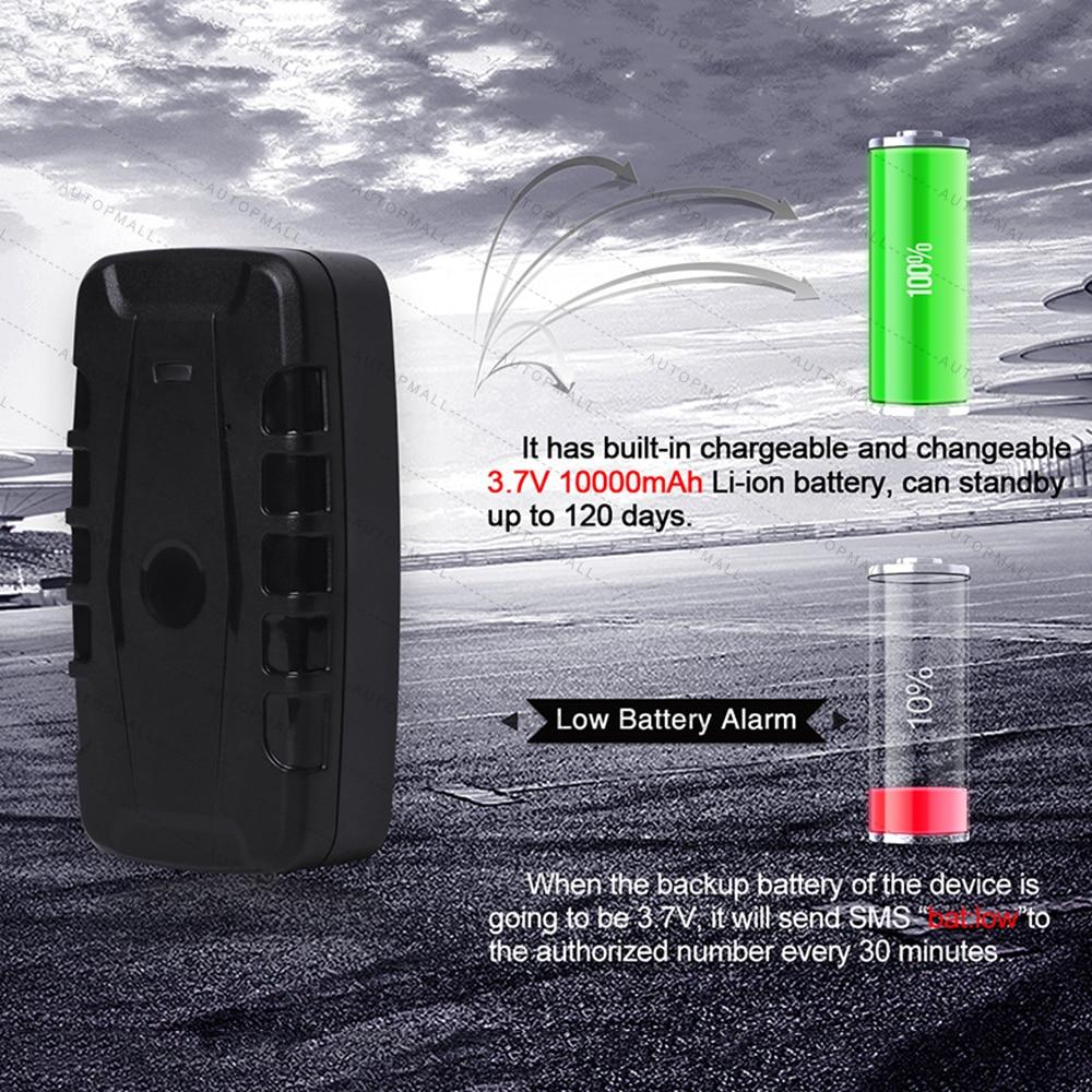 Traqueur de voiture GPS LK209B dispositif de suivi de véhicule localisateur GPS traqueur GSM GPRS 120 jours en veille puissant aimant étanche - 3