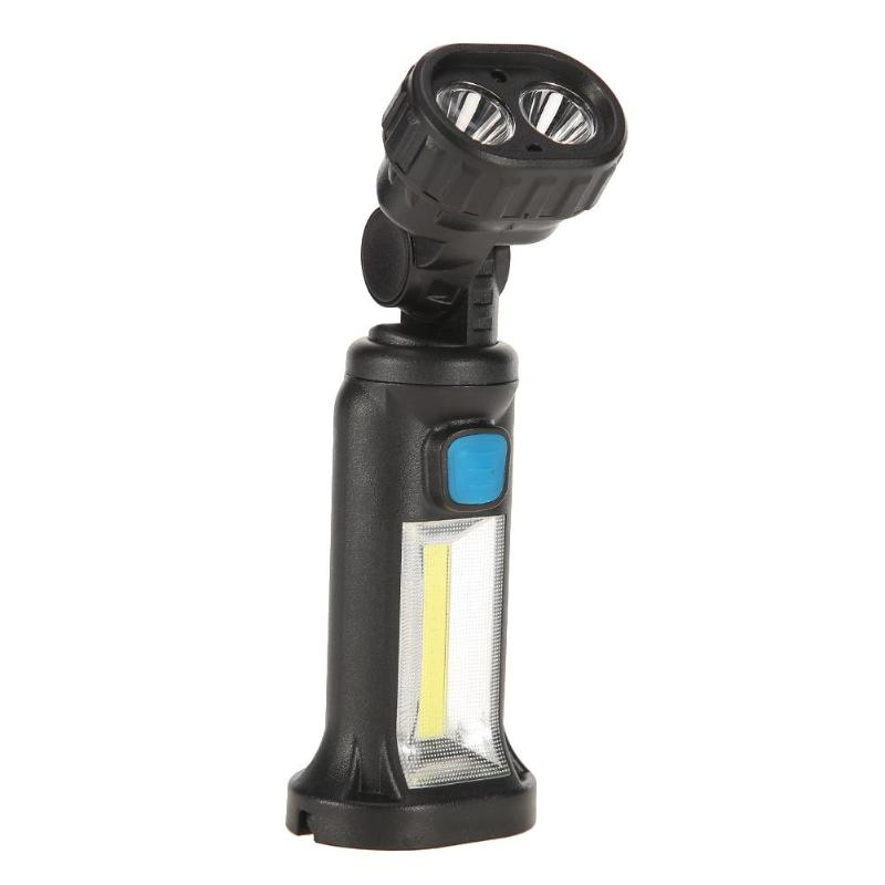 1pc USB Rechargeable XPE+COB LED Work Light Magnetic Inspection Lamp Flashlight Torch for Outdoor Camping Car Repair Tools