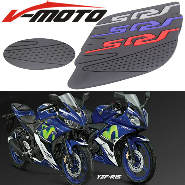 US $6 66 29% OFF|Motorcycle Fuel Tank Pad Anti Slip Protector Stickers Knee  Grip Side Decals Accessories For Yamaha R15 2017 2018 YZF R15 17 18-in