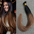 Full Shine Multi Color 1B Fading to 33 Ombre Color 18 I Tip Fusion Extensions 50g Per Pack Straight Remy Human Hair Extension