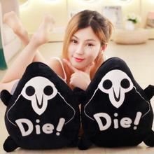 1pc 45X35cm Grim Reaper Death Pillow And Cushion Action Figure Stuffed Soft Toy Dark Funny Kids Tricky toysM