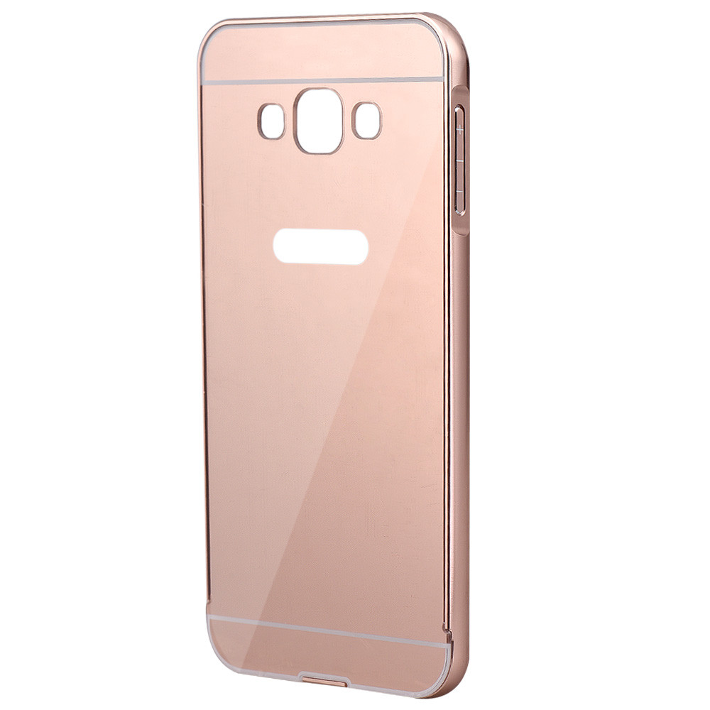 Cases Covers Compact Elegant Stylish construction Aluminum Ultra-thin Mirror Metal Case Cover Skin For Samsung Galaxy A8