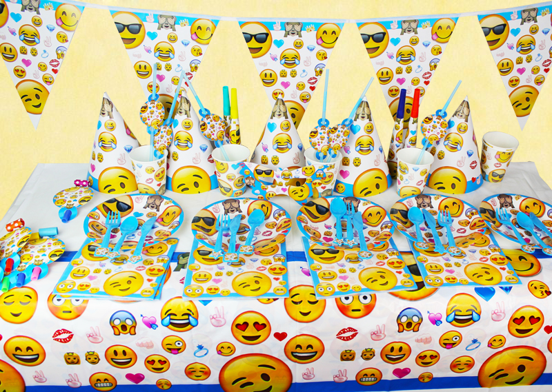 Emoji Smile Cry Kids Birthday Party Decoration Set Party Supplies Baby Birthday Party Pack event party supplies ...