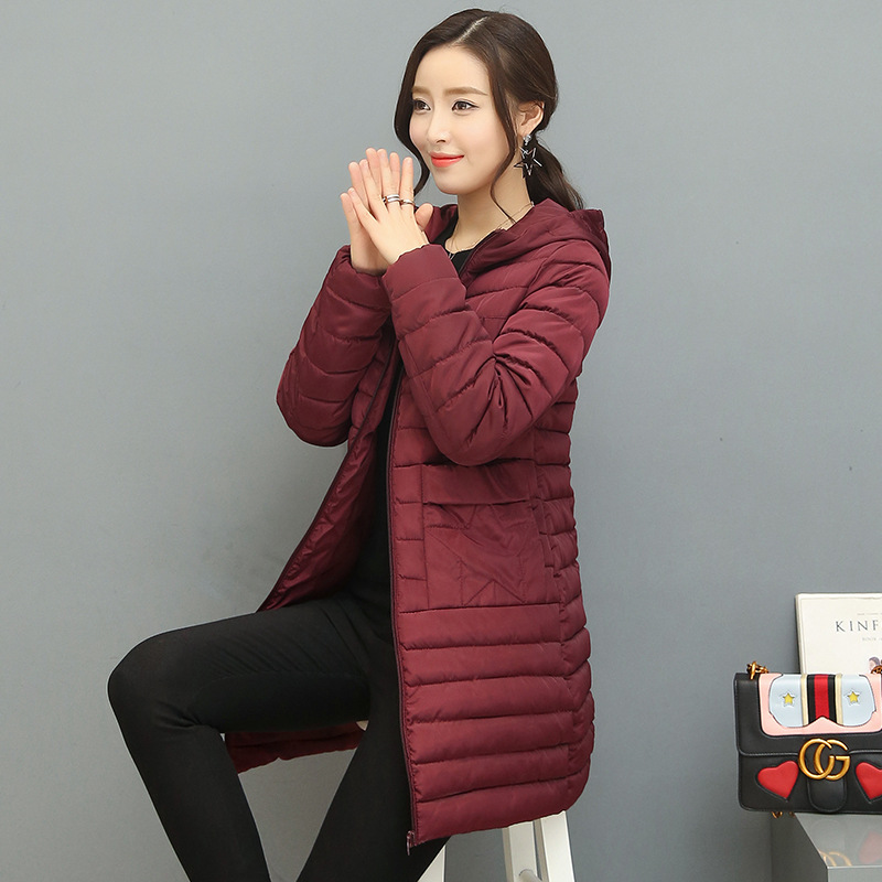 Pregnant women coat 2018 winter new style long paragraph fashion thin section hooded cotton jacket pregnant women clothes winter solid color long sleeve hooded women cotton jacket new fashion warm short section comfortable women cotton coat wk055