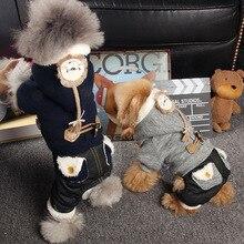 Комбинезоны для собак, Теплая Зимняя Одежда для питомцев, собак, кошек, комбинезон, флисовая внутренняя Одежда для собак, одежда для собак XS, s, m, l, xl