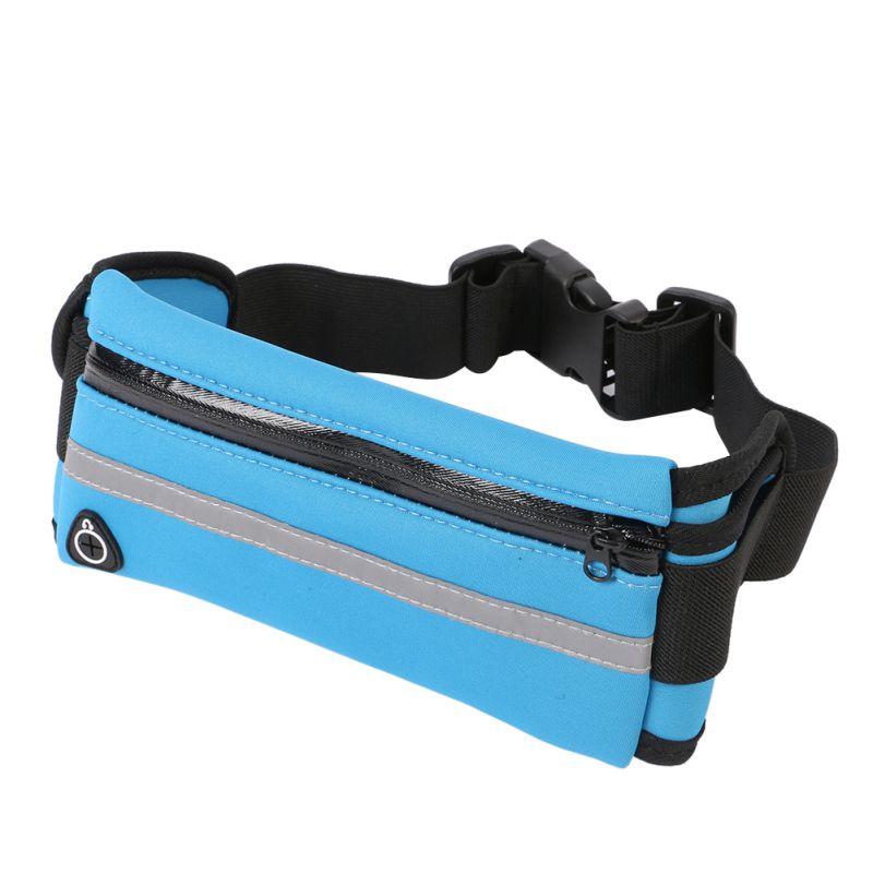 Beg Berlari Luar Wanita Sukan Nylon Pek pinggang Pek Beg Unisex Small Accessory Travel Belt Bag