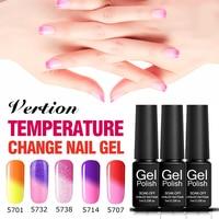 Verntion Chameleon Nail Polish Gel Temperature Changing Color Hybrid Nail Polish Varnish Soak off UV LED Lucky Gel Nail Art