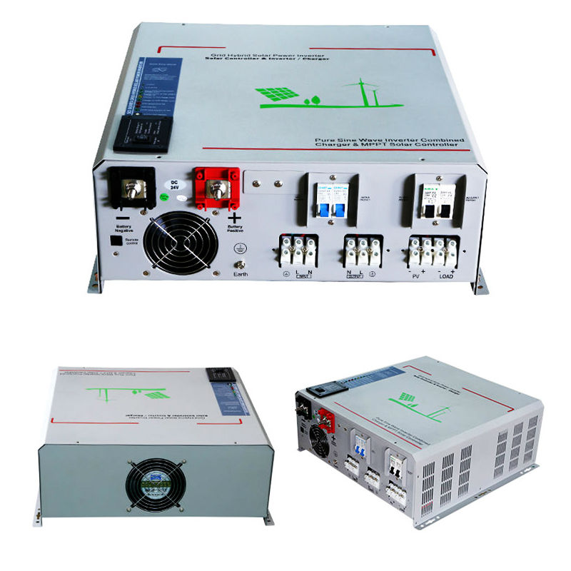 MAYLAR@24V 3000W Peak Power 6000W Pure Sine Wave Solar Off-grid Inverter Built-in 40A MPPT Controller With Communication,LCD decen 12v 2000w peak power 4000w pure sine wave solar inverter built in 40a mppt controller with communication lcd display