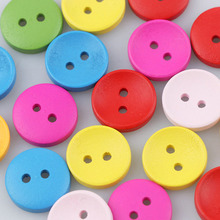 Brand 50PCS 13mm Coloful Wooden Buttons Mixed Color  Pattern Decorative Buttons 2 And 4-Holes Fit Sewing Scrapbooking Craft DIY multicolor 50pcs 2 holes mixed animal wooden decorative buttons fit sewing scrapbooking crafts