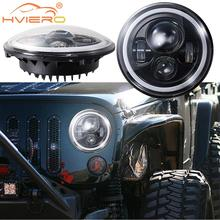 7 Inch Motorcycle LED 12V 45W Moto Working Spot Lights Headlamp 6500k Auxiliary Led Headlight Bulbs Light