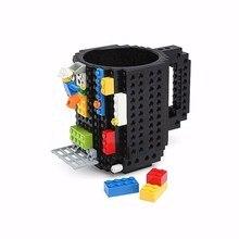 Neue Design Kreative geschenk Art DIY Montage Build-auf Ziegel Becher Bausteine Kaffee Milch Tasse Ziegel Tee Trinken tassen