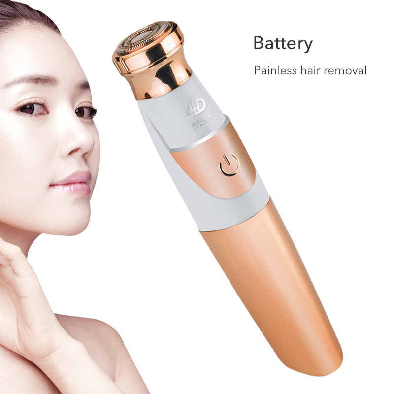 NoEnName_Null Pubic Portable Hair Shaver Hair Removal Epilator Trimmer For Women Rechargeable Mini Painless Epilator