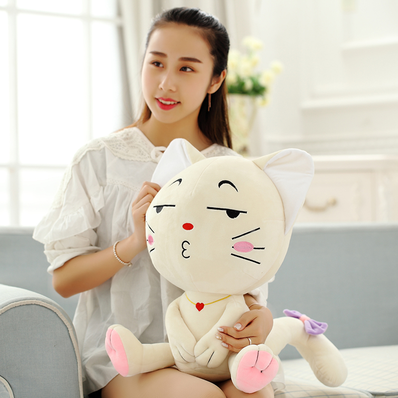 Emoji Pillow, Expression Cat, Plush - პლუშები სათამაშოები - ფოტო 1