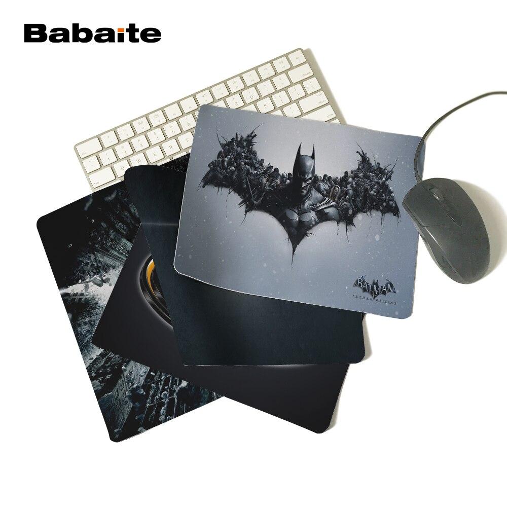 Babaite Comics super-héros Batman Arkham Logo noir tapis de souris personnalisé mode Cool ordinateur portable Silicone tapis à souris jeu