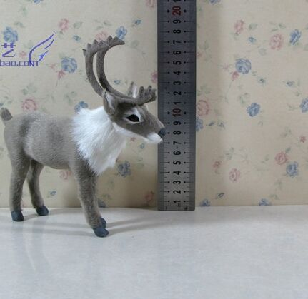 18x18cm simulation reindeer model toy polyethylene&furs handicraft,Christmas decoration home decoration gift <font><b>a2507</b></font> image