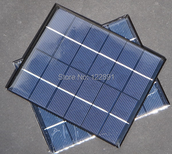 HOT Sale! Mini Polycrystalline Solar Panel Solar Cell DIY&Test Solar System Solar Module 2W 6V 110*136MM 5pcs/lot Free shipping