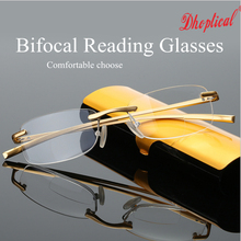 eyeglasses Bifocal Reading glasses , metal frame gold color good quality  free shipping free shipping mg75j2ys40 new products good quality