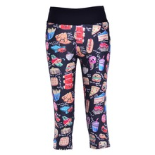 New 1099 Sexy Girl Women Food Party pizzake cola 3D Prints Workout stretch Fitness Cropped Trousers Leggings Pocket Pants