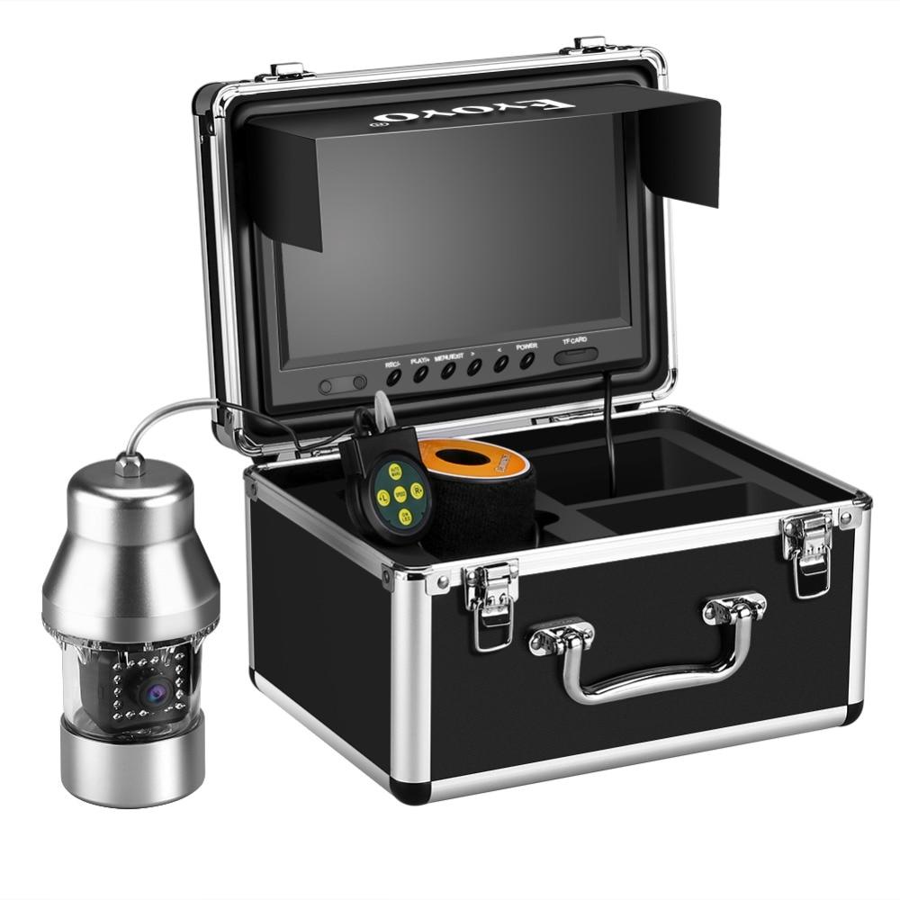 Eyoyo подводная рыболовная камера видео эхолот 8GB DVR 9 дюймов 1000TVL 360 ° горизонтальная камера с панорамированием 18 инфракрасных ИК-ламп