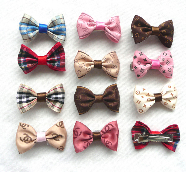 10pcs set Classic Patten Bow Dog Hairpin Decoration Cats Dogs Headdress Small Dog Cat Hairpin Mini