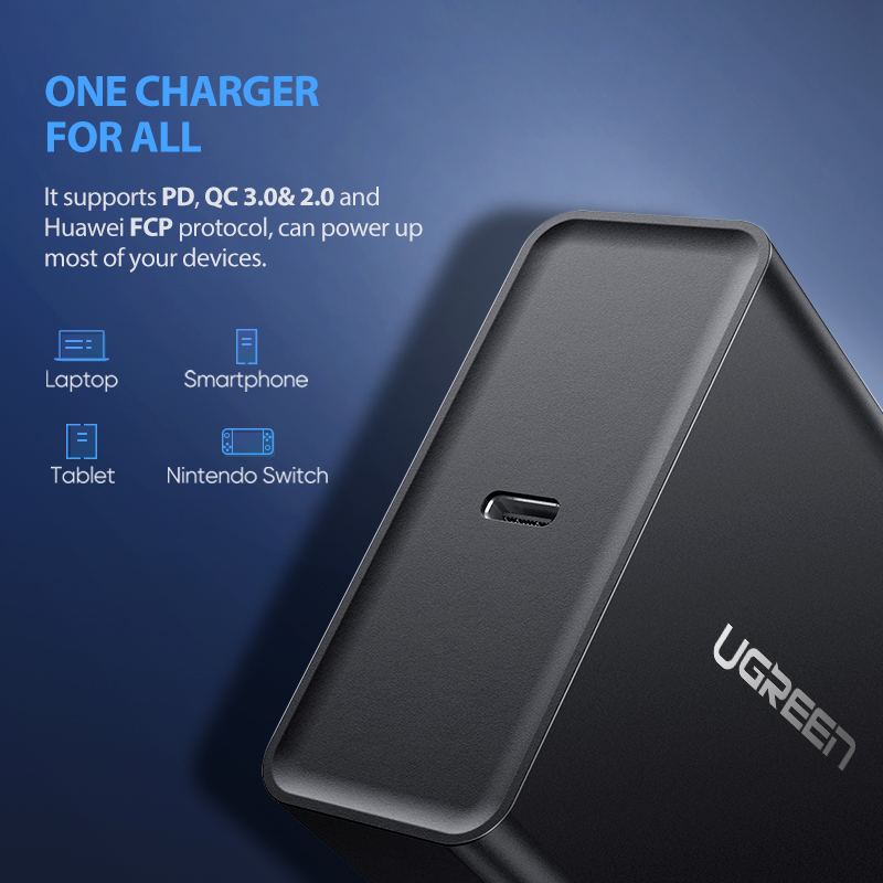 Ugreen PD 65W Charger USB type C Charger for Apple MacBook Air iPad Pro Samsung ASUS Acer Tablet Charger for Nintendo Switch 2