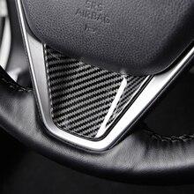 Углеродное волокно рулевого колеса автомобиля литье отделка рамка Крышка для Toyota Camry