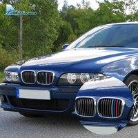 זה מהיר 3 יח'\חבילה שבכה קדמי רכב רצועות לקצץ כיסוי פס Motorsport מדבקות דקור עבור BMW הסדרה 5 E39 M5 1997-2003