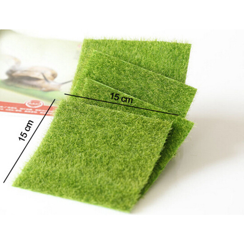 Tapis Vert Artificielle Pelouses 15x15 cm Petit Gazon Tapis Faux Gazon ...