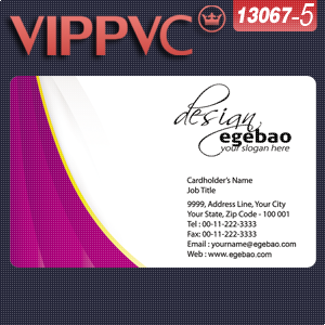 A13067-5 Pvc Business Cards Template For Online Design And Printing Card