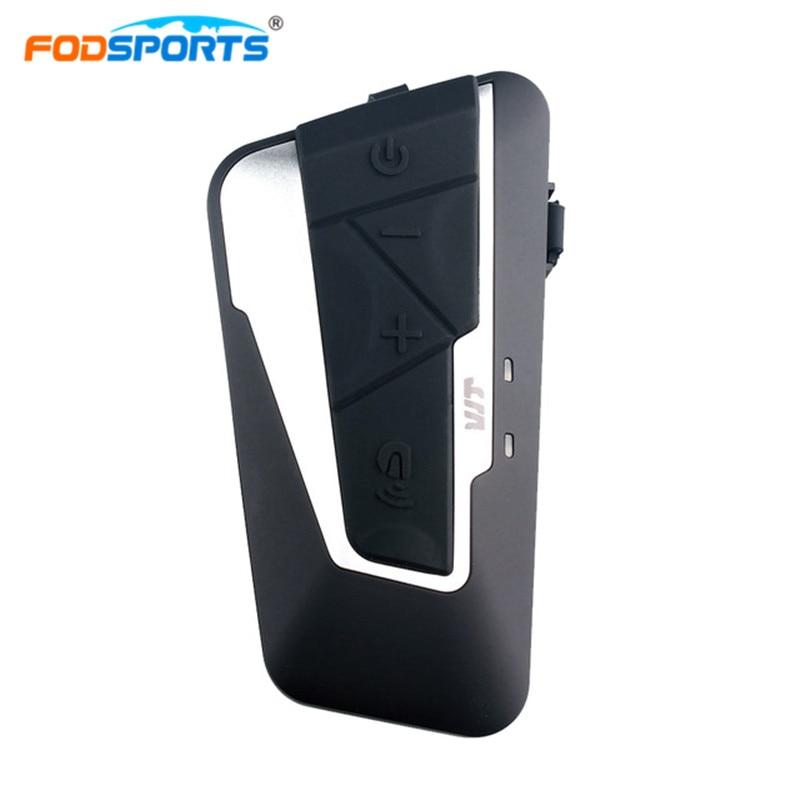 Fodsports 1200 m del Motociclo del Citofono del Casco di Bluetooth Auricolare Moto Citofono Del Casco Con FM Collegare Cellulare BT-S2 Freedconn