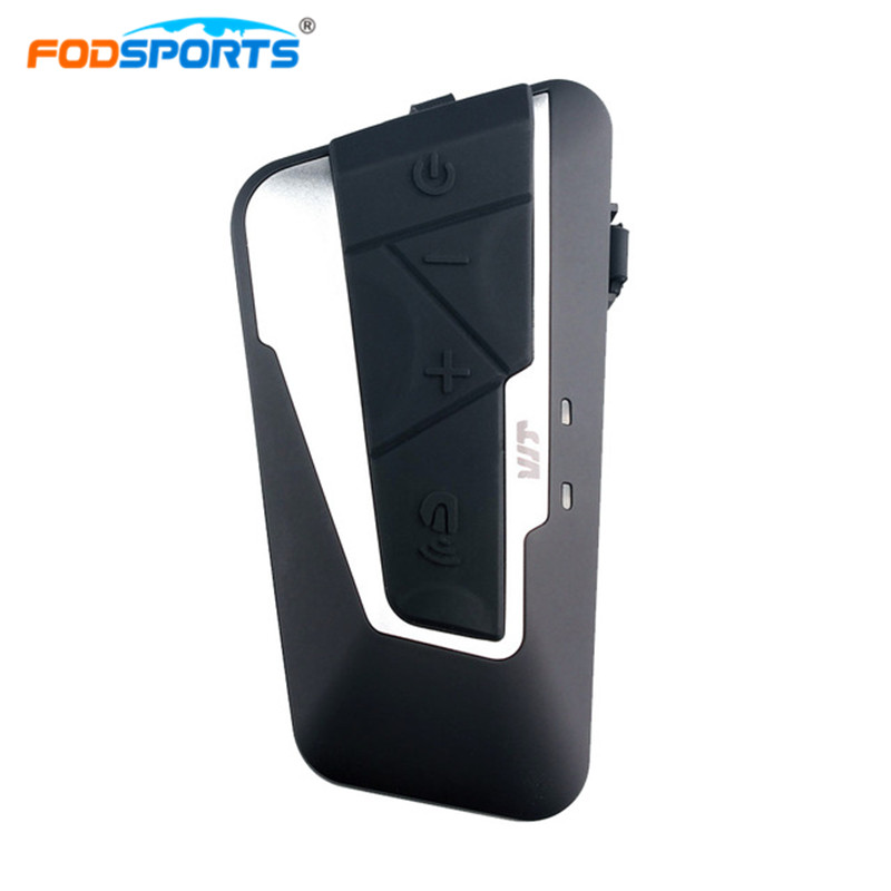 Fodsports Motorcycle Intercom Bluetooth Headset Motorcycle Bluetooth Helmet Headset Intercomunicador Moto Radio Intercom