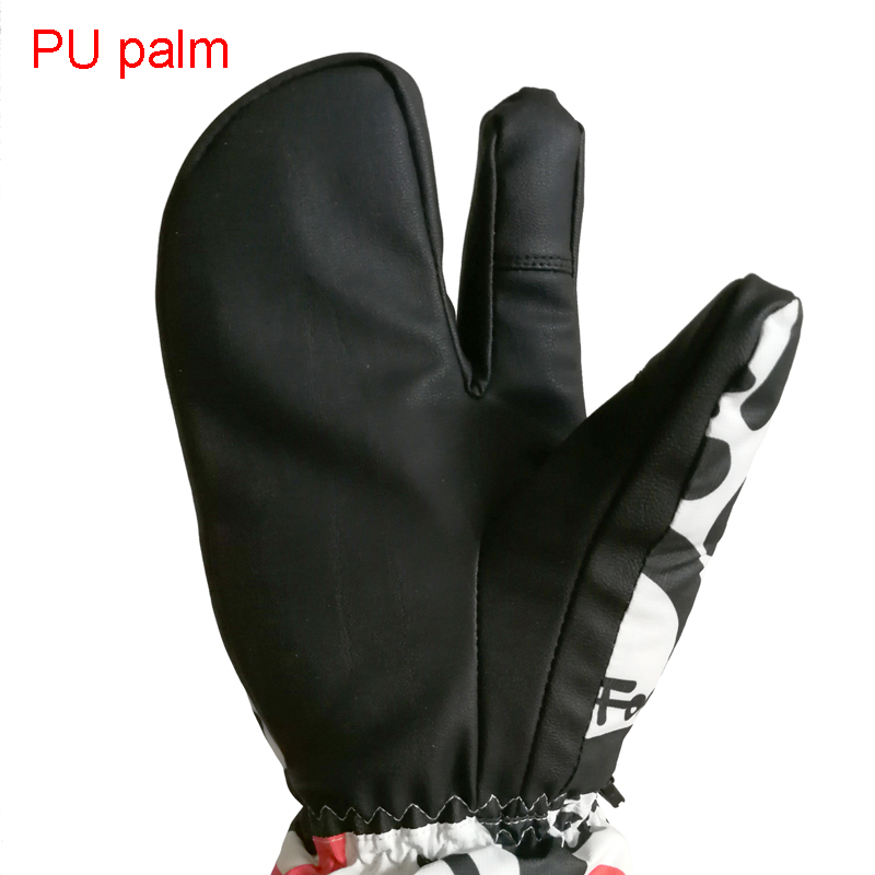 Image 5 - Professional Snowboard Ski Gloves men women 3 Finger Mittens Winter  30 Skiing snowmobile windstopper snow Handschoemen monster-in Skiing Gloves from Sports & Entertainment