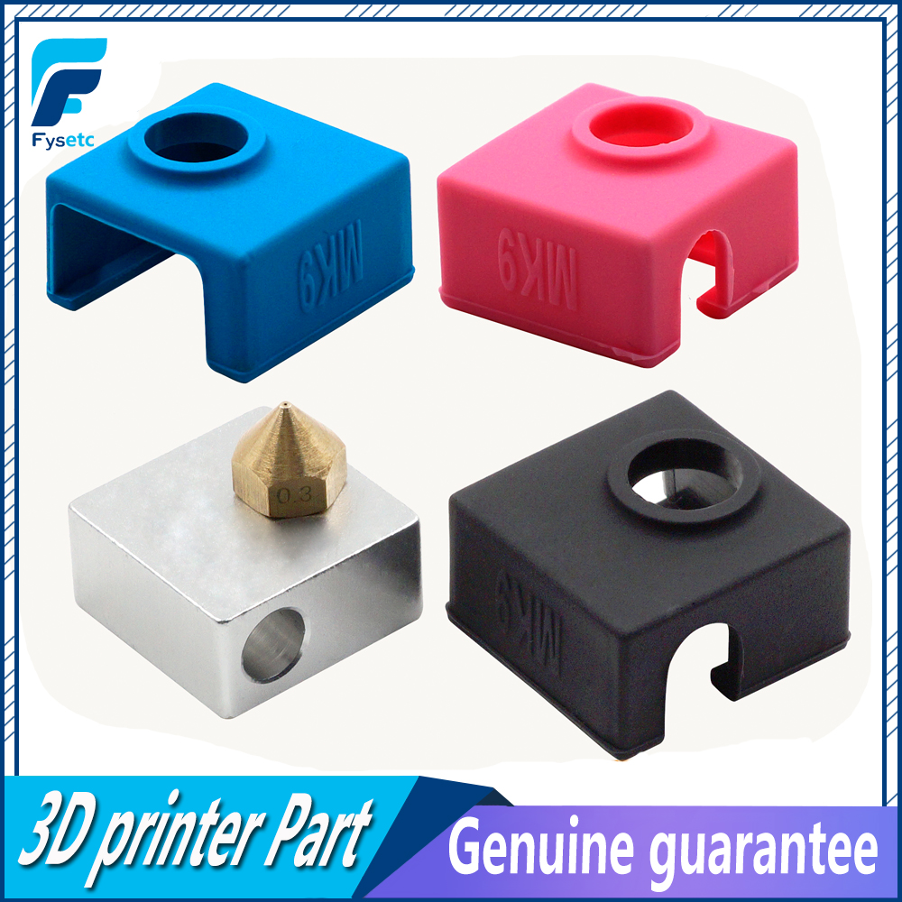1PC MK9 Silicone Sock Heater Block Cover Silicone Insulation For Creality Ender 3 Replicator Anet Prusa i3 Tronxy MK7/MK8/MK9