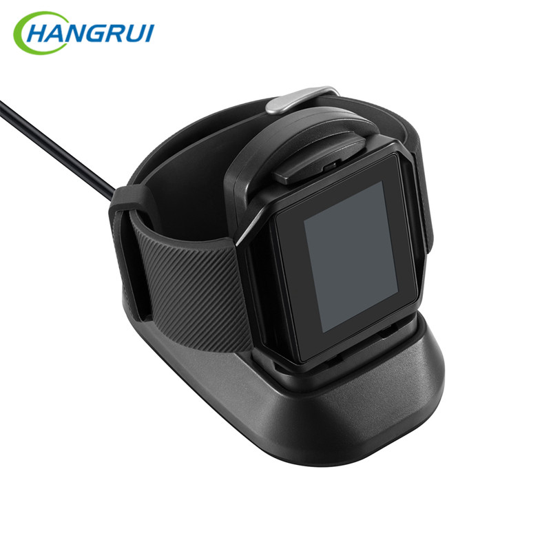 HANGRUI Multi-function Charger For Fitbit Blaze Smart Watch USB Charging Cable Cradle charger Dock Station 1M Length Wire usb charging cable dock for xiaomi huami bip bit pace youth watch charger 1m portable charger data cable charging dock cradle
